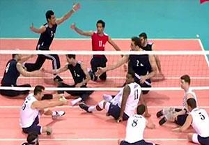 پیروزی والیبال نشسته ایران مقابل امریکا در جام بین قاره ای