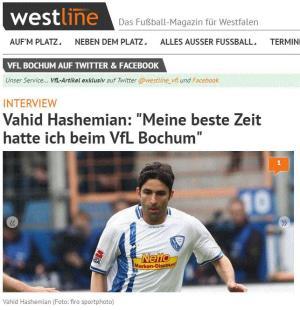 هاشمیان: بهترین دوران فوتبالم در بوخوم بود