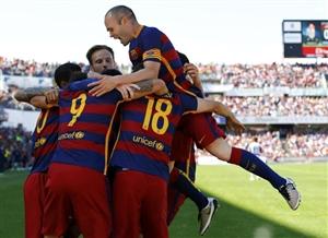 گرانادا 0-3 بارسلونا؛ لالیگا، آبی و اناری شد