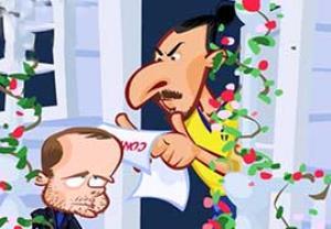 عکس العمل زلاتان به پیشنهاد منچستر یونایتد به روایت انیمیشن