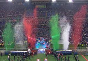 مراسم اهدای جام قهرمانی به یوونتوس