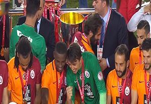 مراسم اهدای جام قهرمانی به گالاتاسارای