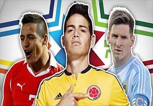 10 بازیکن برتر و تاریخ ساز حال حاضر کوپا آمریکا