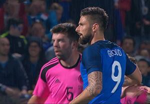خلاصه بازی فرانسه 3-0 اسکاتلند