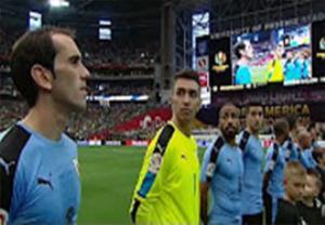 پخش سرود ملی اشتباه برای اروگوئه در بازی با مکزیک
