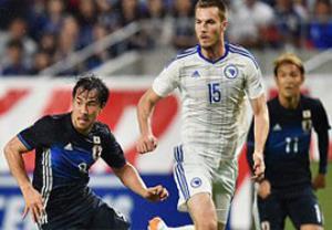 گلهای بازی ژاپن 1-2 بوسنی