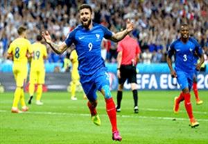 خلاصه بازی فرانسه 2-1 رومانی (یورو 2016)