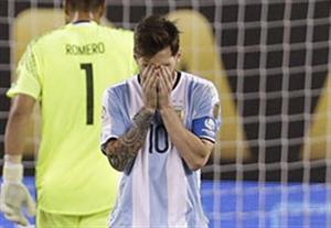 اشک های مسی بعد از شکست در تورنمنت های بزرگ