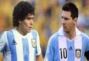 مسی و مارادونا دو ستاره بزرگ آرژانتین
