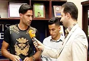 مصاحبه امیرحسین صادقی در لحظه ثبت قرارداد با پیکان