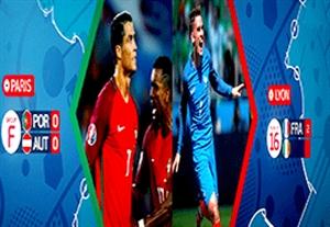نگاهی به مسیر فرانسه و پرتغال تا فینال یورو2016