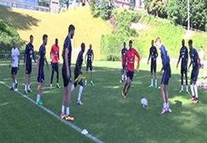 تمرین تیم فرانسه برای بازی با پرتغال