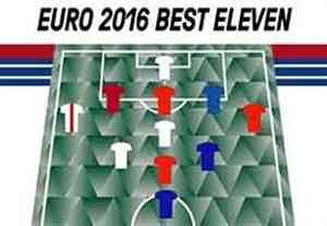 تیم برگزیده یورو 2016 تا پیش از فینال