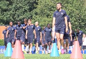 آخرین تمرین تیم ملی فرانسه در یورو