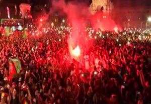 جشن و شادی هواداران پرتغال بعد از قهرمانی در یورو 2016