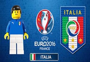 شبیه سازی جالب بازی های ایتالیا در یورو با عروسک لگو
