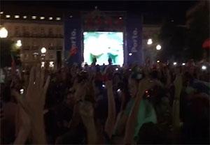 کلیپ اختصاصی از جشن هوادارن پرتغال در پورتو