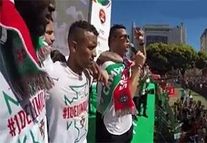 جشن بازیکنان پرتغال در لیسبون