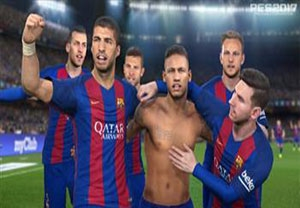 بارسلونا در بازی PES 2017
