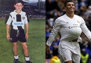 مقایسه جالب ستارگان فوتبال با دوران کودکی