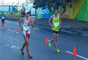 کسب مقام پنجاه و چهارم زوراوند در پیادهروی المپیک
