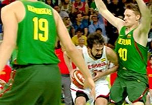 خلاصه بسکتبال اسپانیا 109-59 لیتوانی