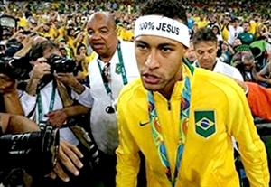 درگیری لفظی شدید نیمار با یکی از هواداران در فینال المپیک