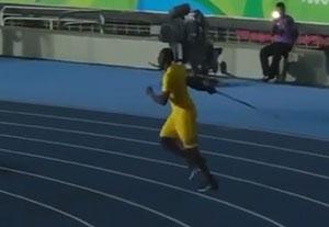 پرتاب نیزه بولت در المپیک ریو!