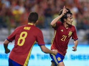 شکست بلژیک مقابل اسپانیا در بروکسل