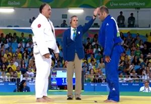پیروزی حمزه ندری در مقابل حریف ونزوئلایی (جودو پارالمپیک)
