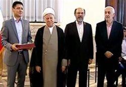 دیدار هاشمی رفسنجانی با مدال آوران المپیک ریو