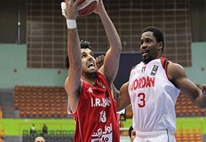 خلاصه بسکتبال ایران 74-63 اردن