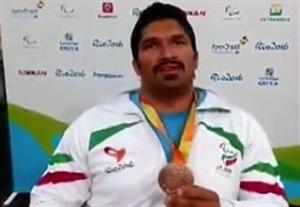صحبتهای احسانی بعد از کسب مدال برنز در پرتاب وزنه