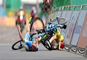 تصادف شدید دو دوچرخه سوار پارالمپیک در نزدیکی خط پایان