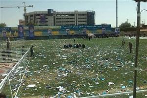 مشکل همیشگی زمین نامناسب در استادیوم های ایران
