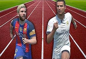 مقایسه سرعت مسی و رونالدو در فیفا 17