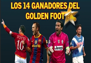 14 بازیکن دارنده جایزه پای طلایی