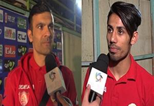مصاحبه با حمدینژاد و فخرالدینی بعد از باخت مقابل پرسپولیس (اختصاصی ورزش3)