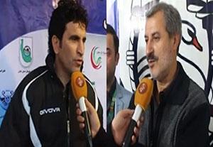 صحبتهای مربیان بعد از بازی ملوان - خیبرخرمآباد