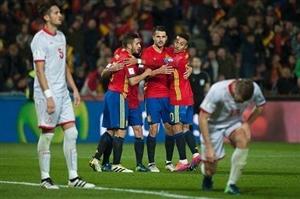 پیروزی پرگل اسپانیا برابر مقدونیه