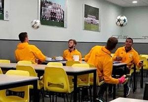چالش های بازیکنان جوان یوونتوس با توپ