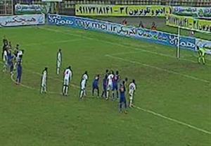 خلاصه بازی ملوان 1-1 پارس جنوبی جم