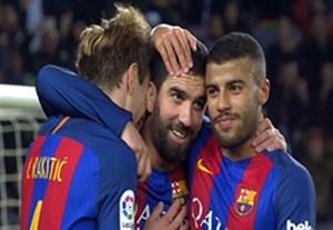 خلاصه بازی بارسلونا 7-0 هرکولس (هتریک توران)