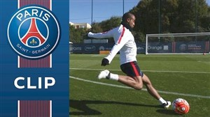 چالش جذاب کنترل توپ و شوت زنی بازیکنان پاری سن ژرمن