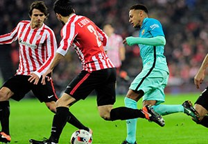خلاصه بازی بیلبائو 2-1 بارسلونا