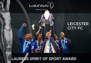 لسترسیتی برنده جایزه روحیه ورزشی لاروس 2017