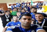 خوشحالی بازیکنان استقلال خوزستان بعد از شکست الفتح