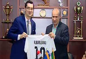 امضا تفاهمنامه میان فدراسیون فوتبال ایران و رومانی