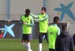 شوخی عجیب نیمار با رافینیا در تمرین بارسلونا