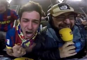 واکنش جالب و طوفانی گزارشگران بعد از گل ششم بارسلونا